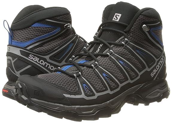 Salomon X Ultra Mid Aero, Botas de Senderismo para Hombre, Gris (Autobahn/Black / Deep Water), 41.5 EU: Amazon.es: Zapatos y complementos