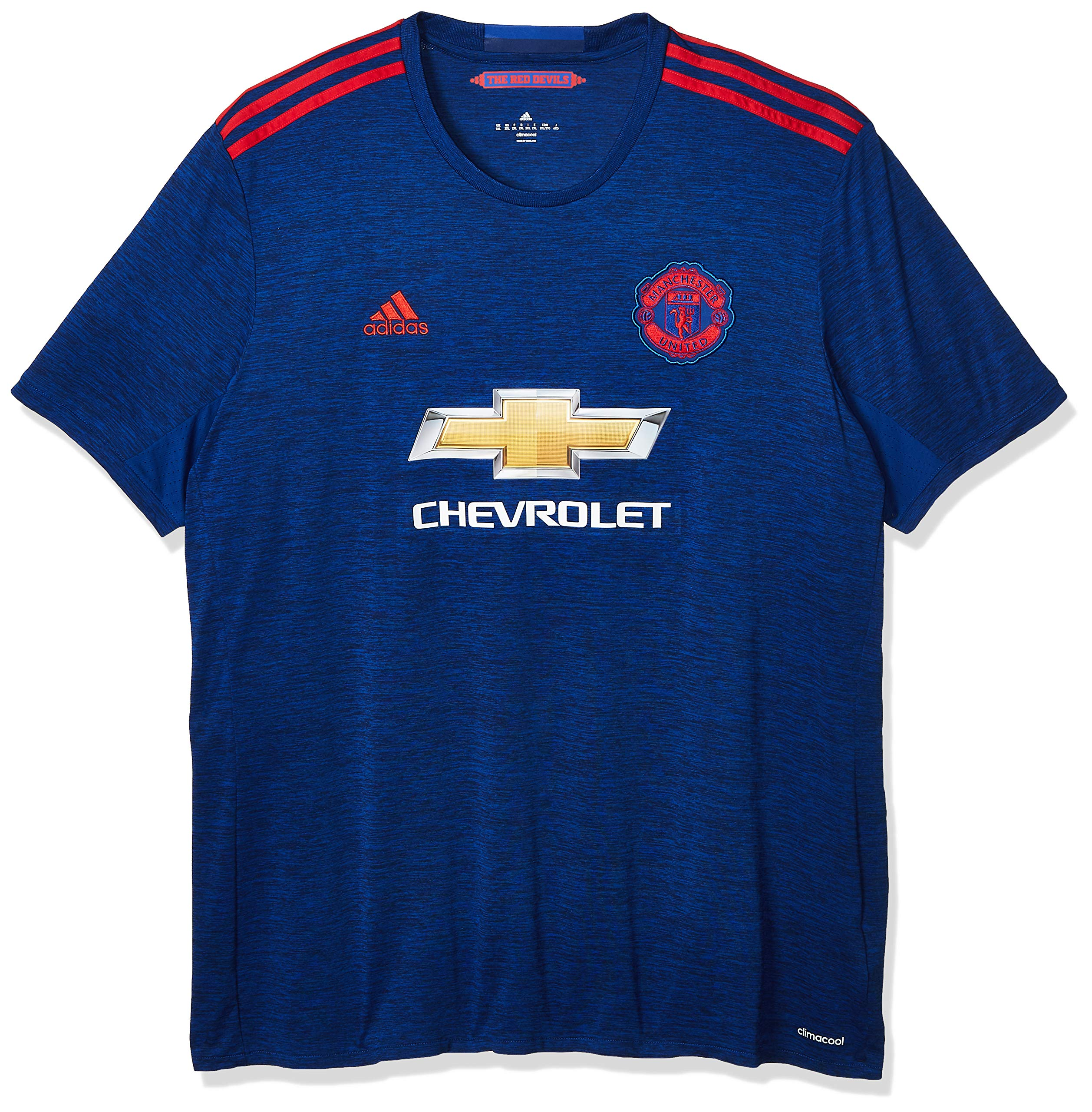 International Soccer Manchester United Men's Jersey, Medium, Blue/Red by adidas