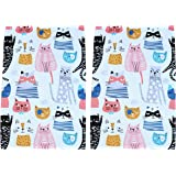 Sunshine Vibes Cat Tea Towels Set of 2 100% Cotton cat Lover Pattern with Hanging Loop; to Tackle All of Your Drying…