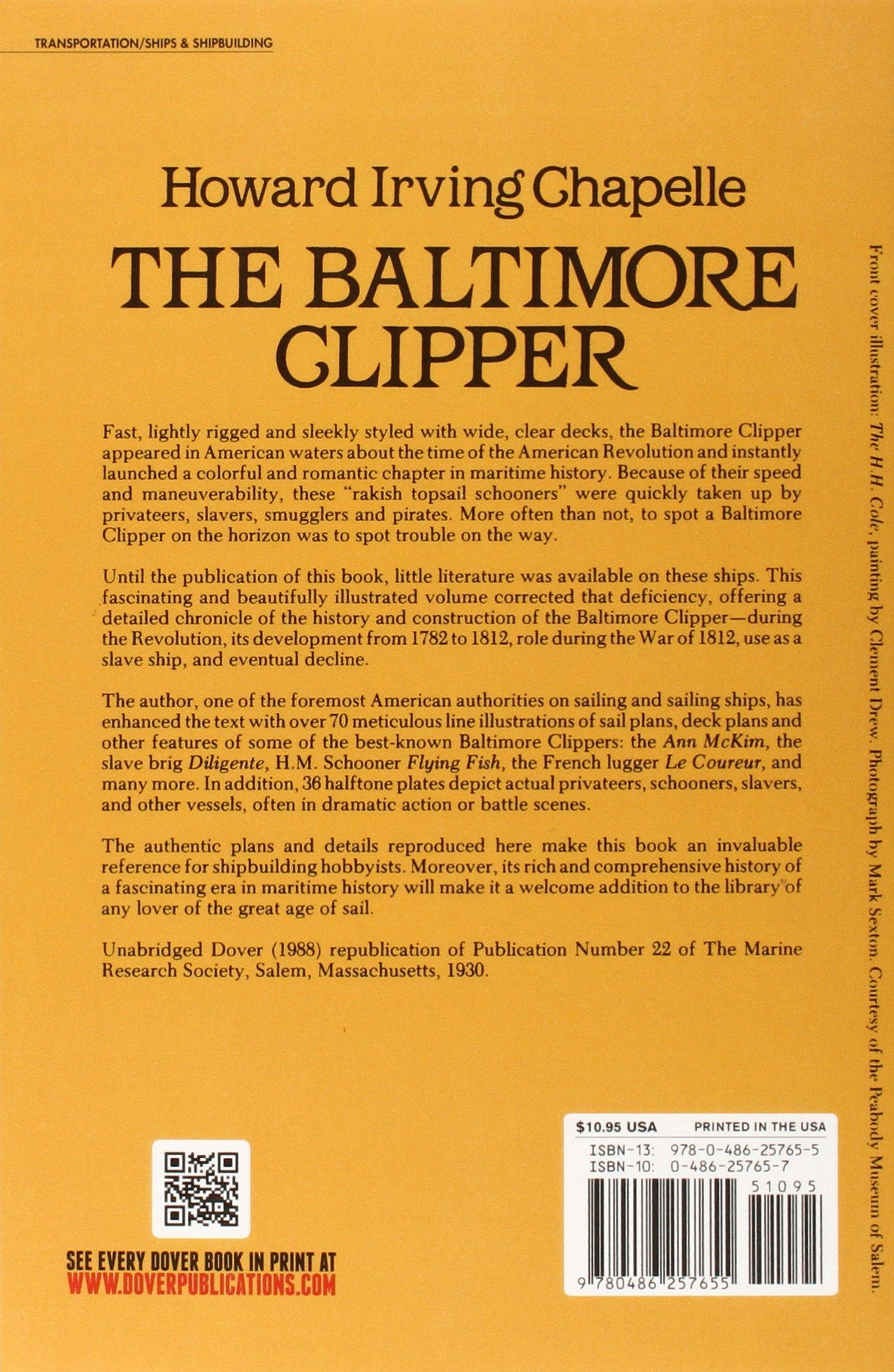 The Baltimore Clipper: Its Origin and Development Dover Maritime ...