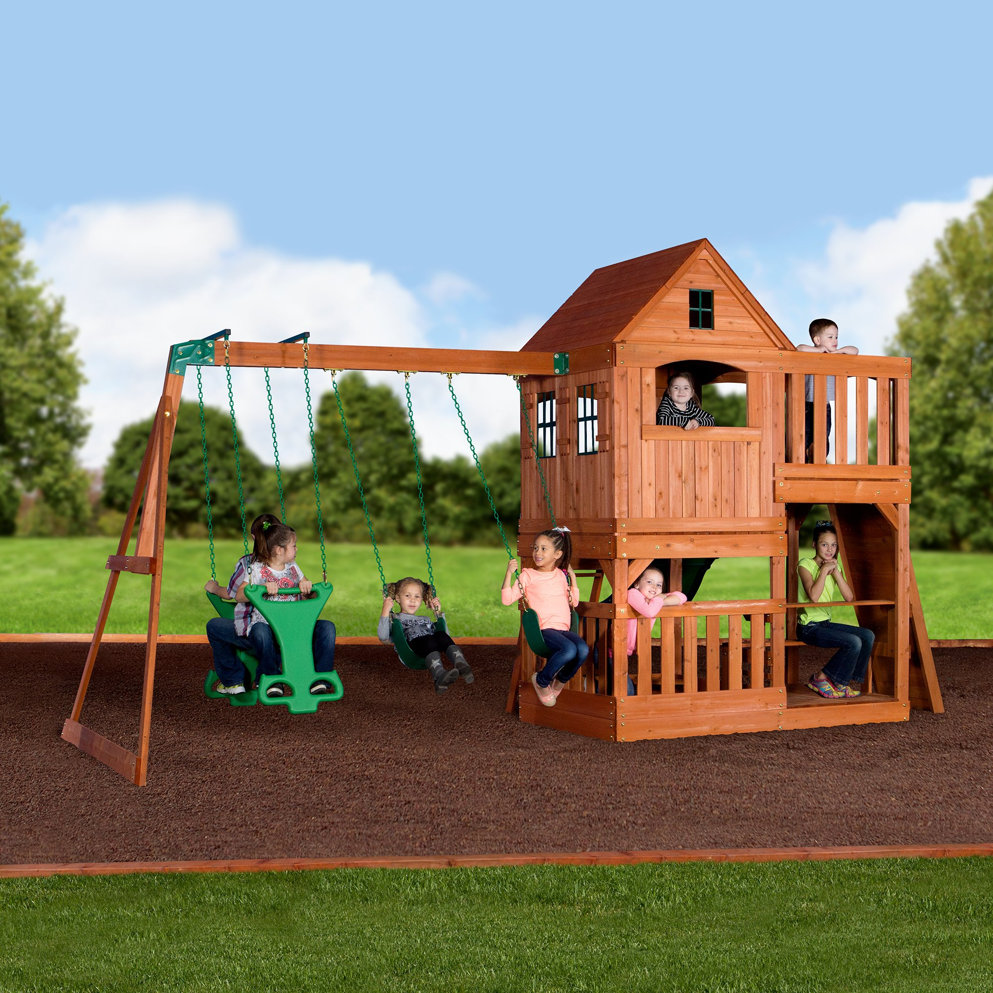 Backyard Discovery Pacific View All Cedar Wood Playset Swing Set by Backyard Discovery (Image #8)