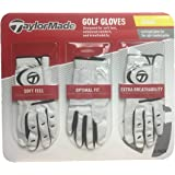 TaylorMade Men's Golf Gloves, Leather Palm Patch, 3 Pack (Small)