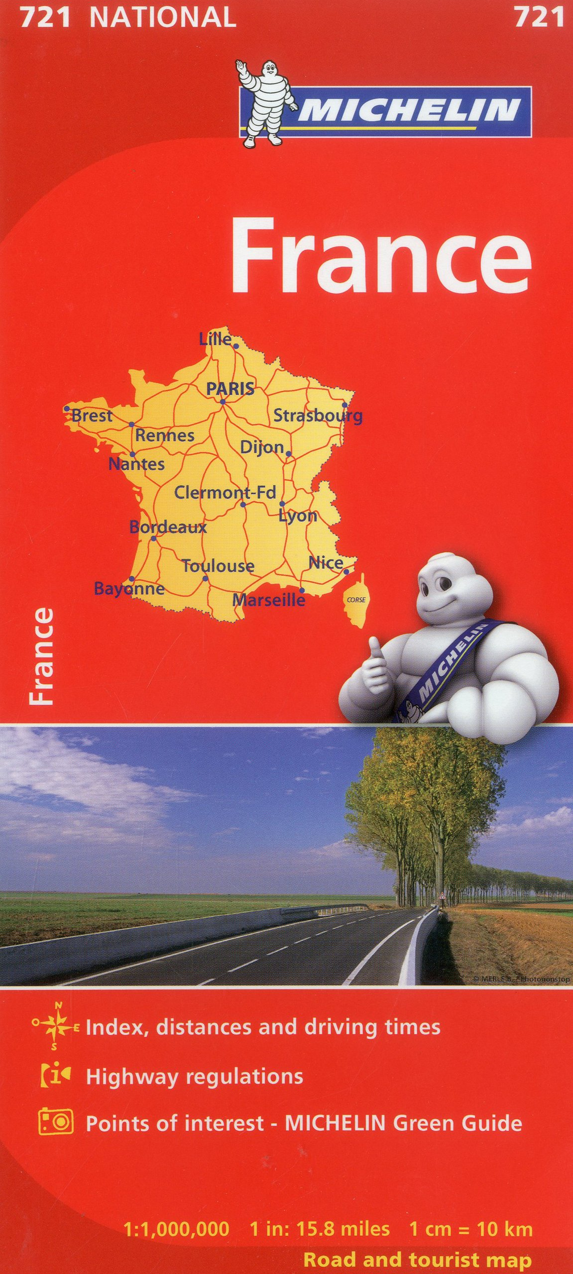 Michelin France Map 721 Maps Country Michelin Michelin