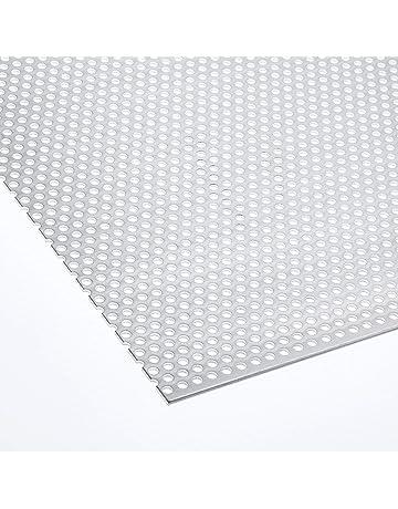 200x200mm Fenstergitter aus Aluminium Lochblech 2mm Qg10-15