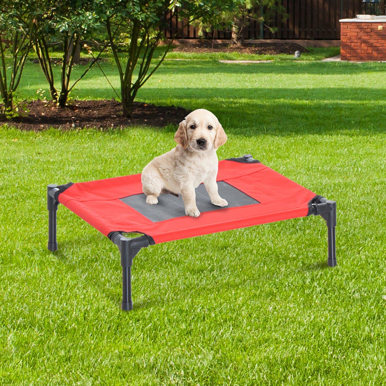 PawHut Cama Mascota para Perros Gatos Camas para Domir Relajar Exterior Terraza Jardín Malla de Ventilación (S: 64 x 46 x 18cm (LxAnxAl)): Amazon.es: Jardín