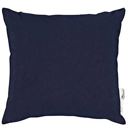 Modway Summon 2 Piece Outdoor Patio Pillow Set With Sunbrella Brand Navy Canvas Covers