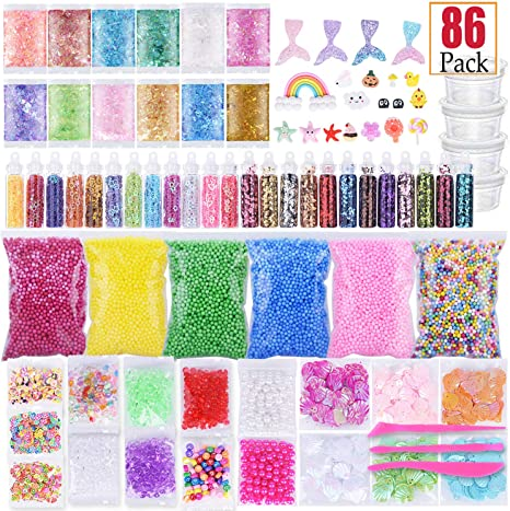 Slime Supplies Kit 86 Pack Slime Making Herramientas Pecera Beads ...
