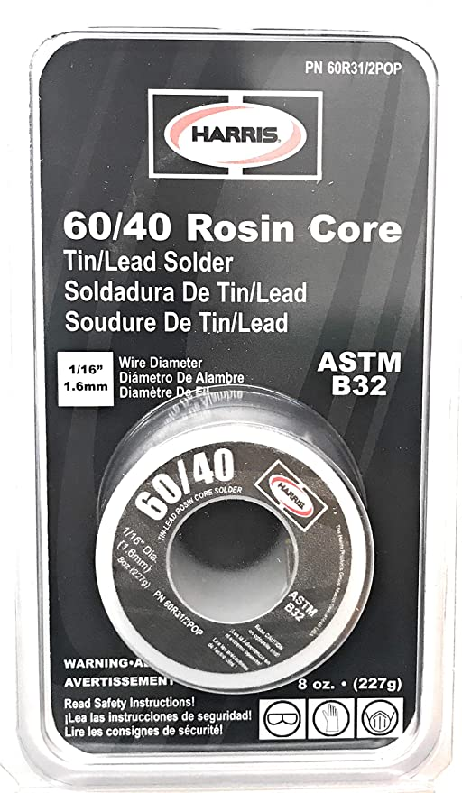 60/40 1/16 in. x 8 oz. Leaded Rosin Core Solder - - Amazon.com