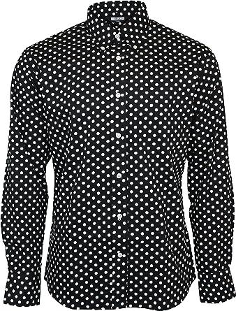 Relco London Men's Polka Dot Longsleeve Button Down Cotton Shirt ...