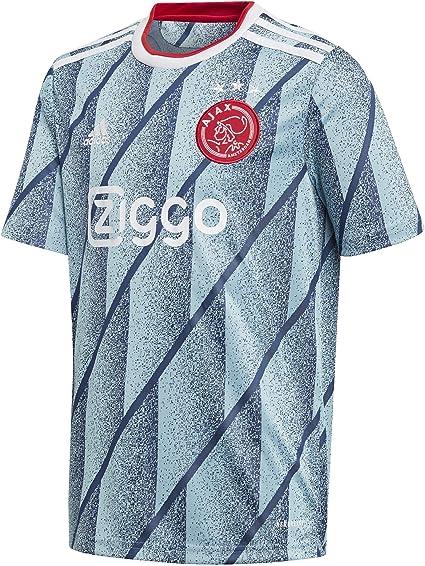 adidas AJAX FC FC Segunda Equipación 2020-2021 Niño, Camiseta, Icey Blue, Talla 140 [cm]: Amazon.es: Deportes y aire libre