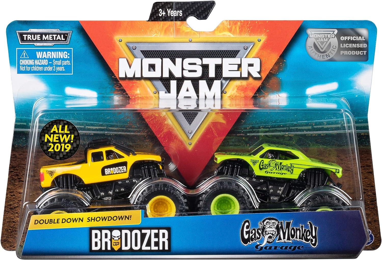 Mermelada de Monstruo Doble Down Showdown Brodozer /& Gas Monkey Garage Nuevo