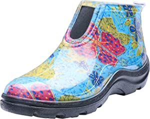 Sloggers Women's Waterproof Rain and Garden Ankle Boots with Comfort Insole, Midsummer Blue, Size 7,Style 2841BL07