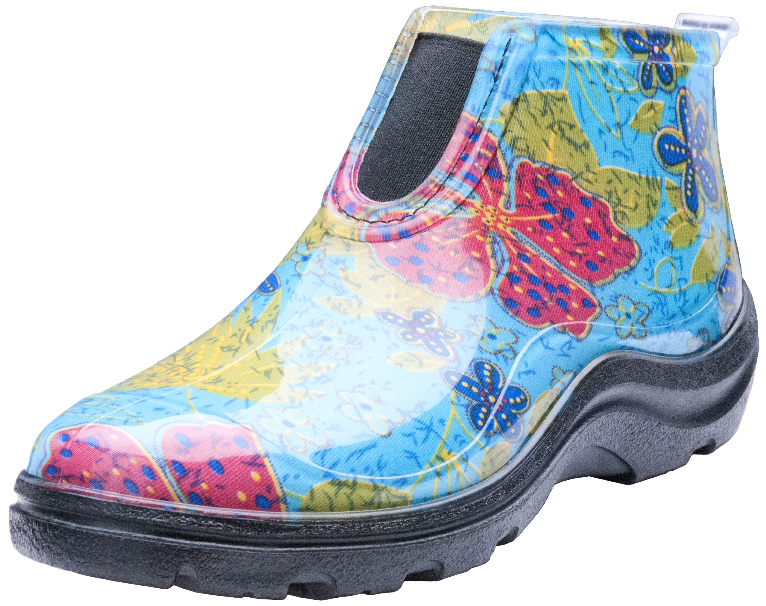 Sloggers  Women's Waterproof Rain and Garden Ankle Boots with Comfort Insole,  Midsummer Blue, Size 10, Style 2841BL10