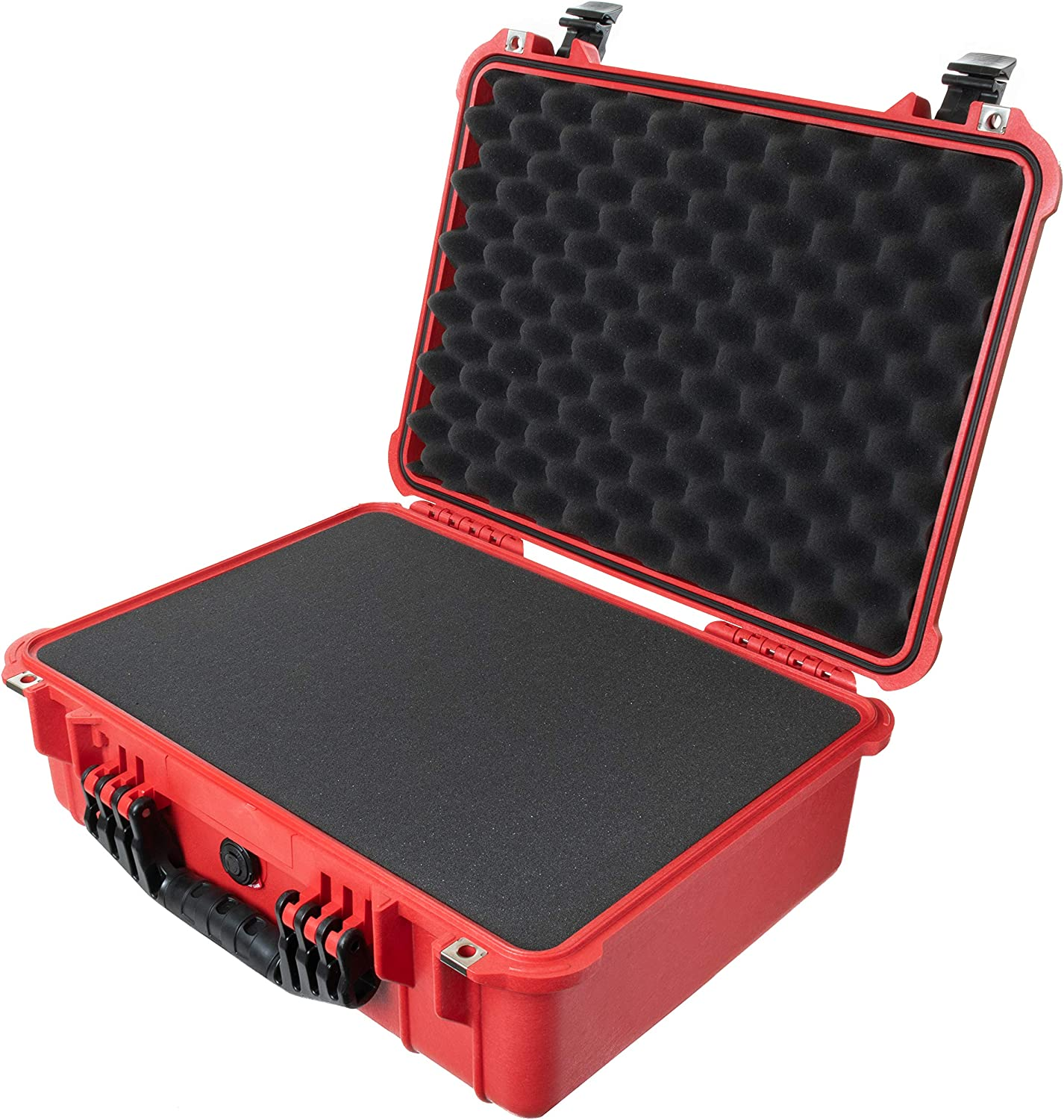 Pelican 1520 Red and Black Case with Pluck Foam
