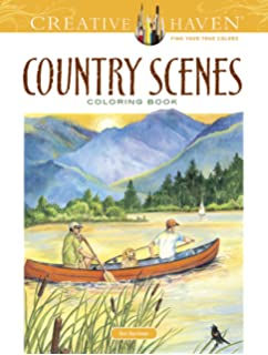 Creative Haven Country Scenes Coloring Book Adult