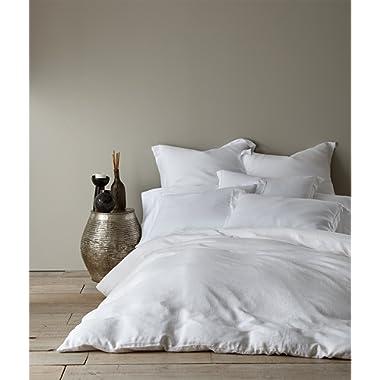 Levtex Washed Linen White Queen Duvet Cover
