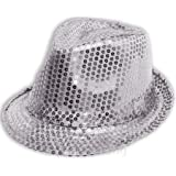 White Silver Sparkly Sequinned Fancy Dress Party Michael Jackson ... 07cb2f9e20c5
