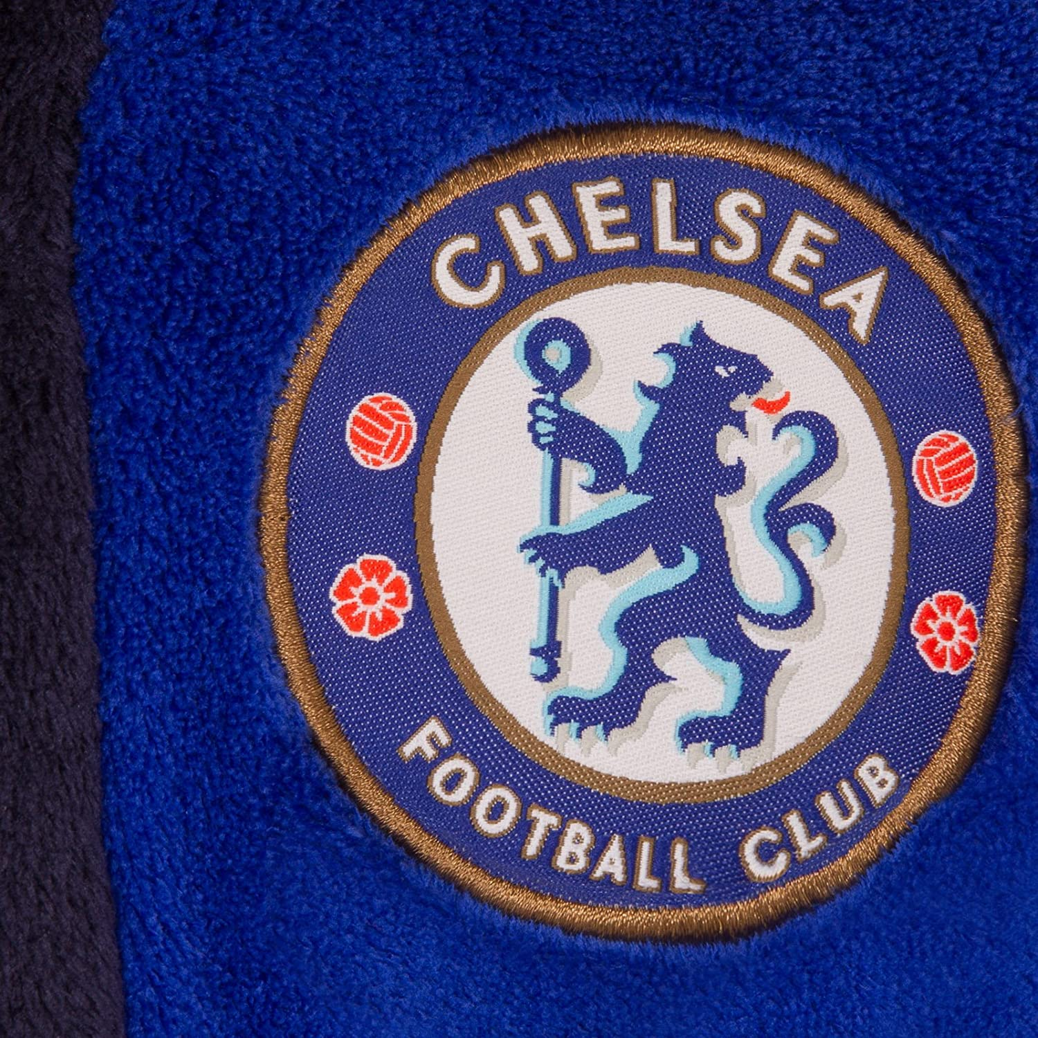 Robe de chambre /à capuche th/ème football gar/çon polaire Chelsea FC officiel