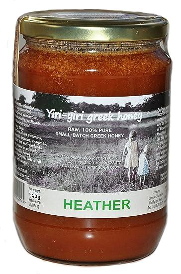 Raw griego miel 100% Pure – mediterráneo Heather 960 G – desde la mantoudi zona