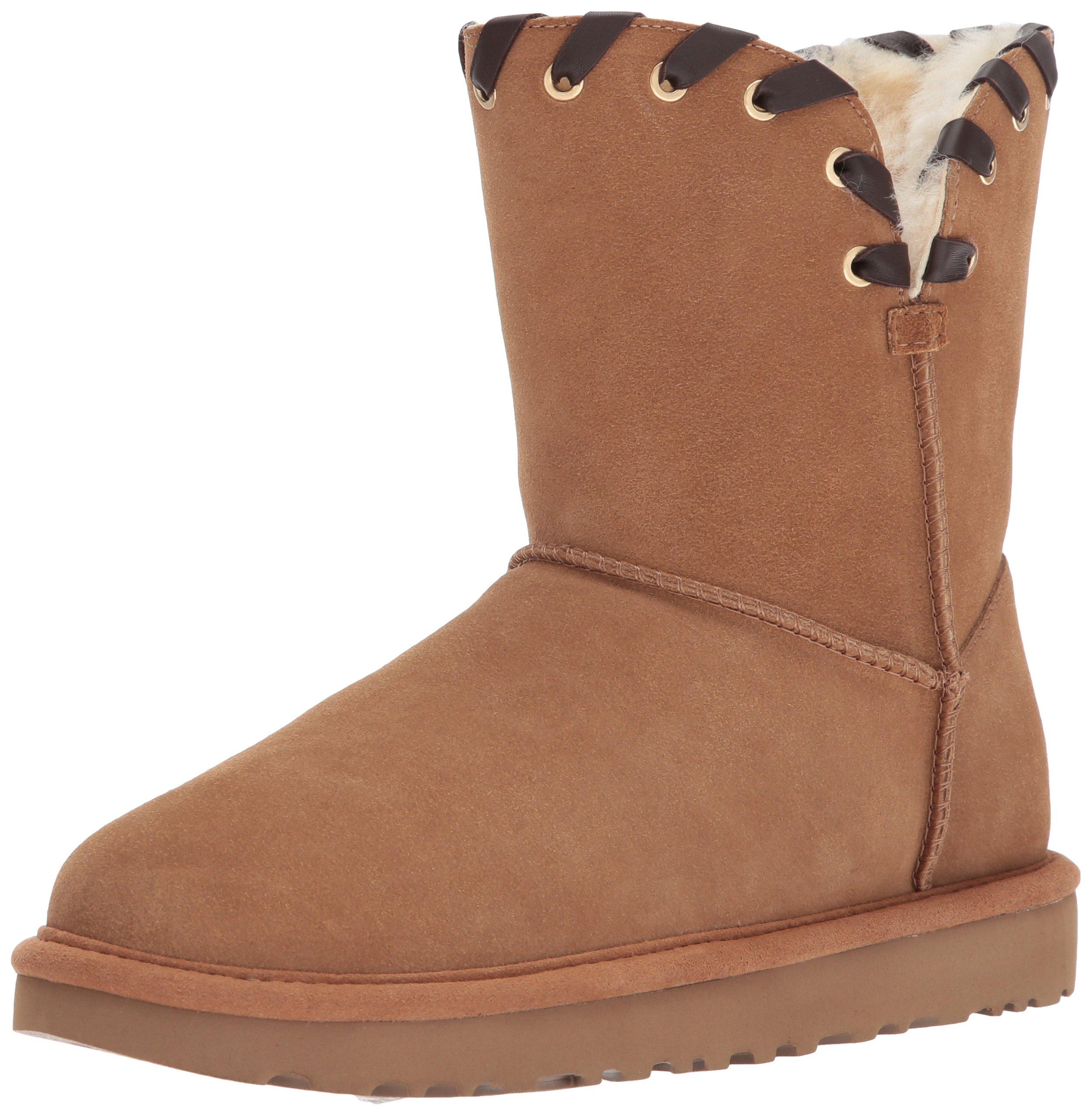 UGG Women's Aidah Winter Boot, Chestnut, 6 M US