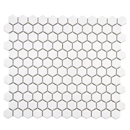 Somertile Fxlmhw Retro Hexagon Porcelain Floor And Wall Tile 10 25