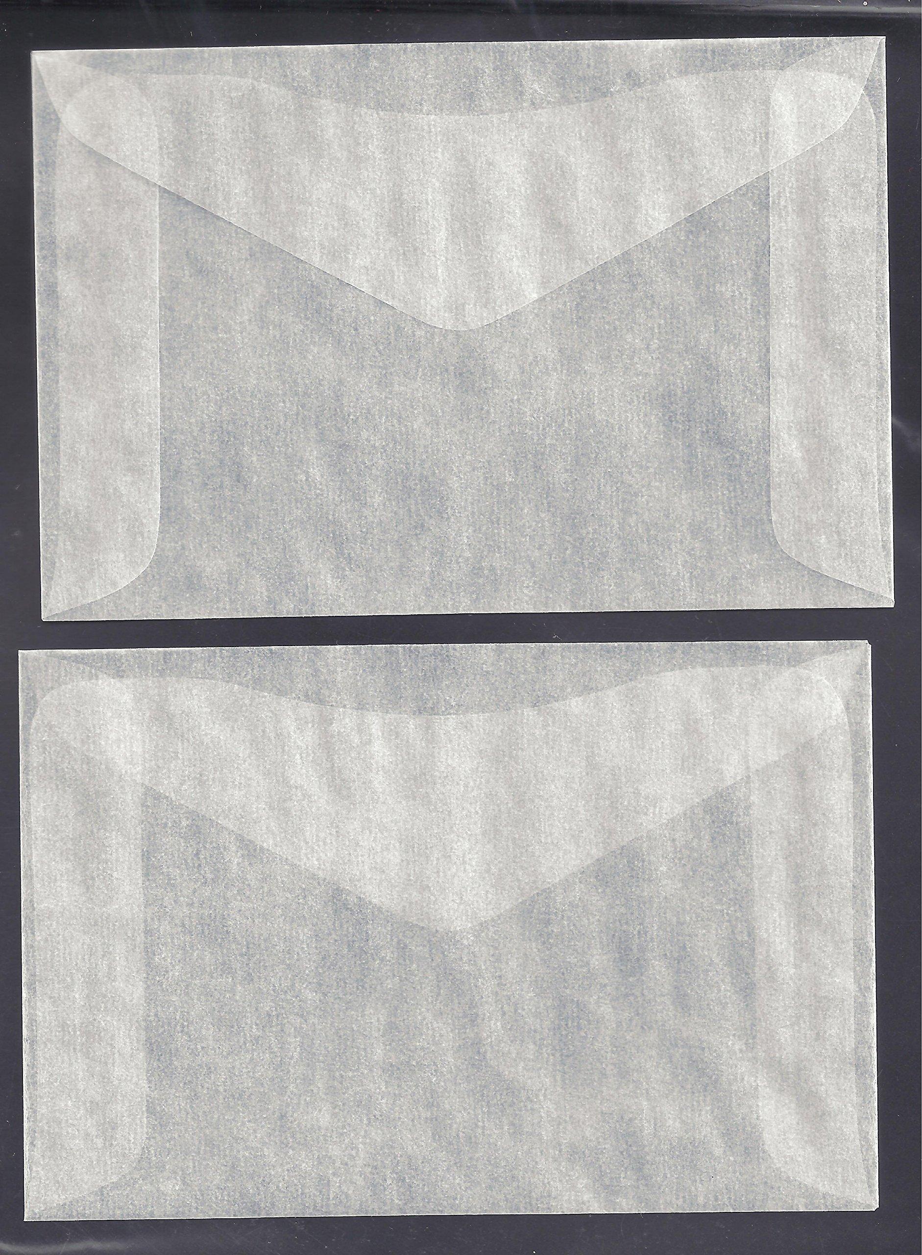One Hundred (100) #4 Glassine Envelopes -- 3 1/4 x 4 7/8