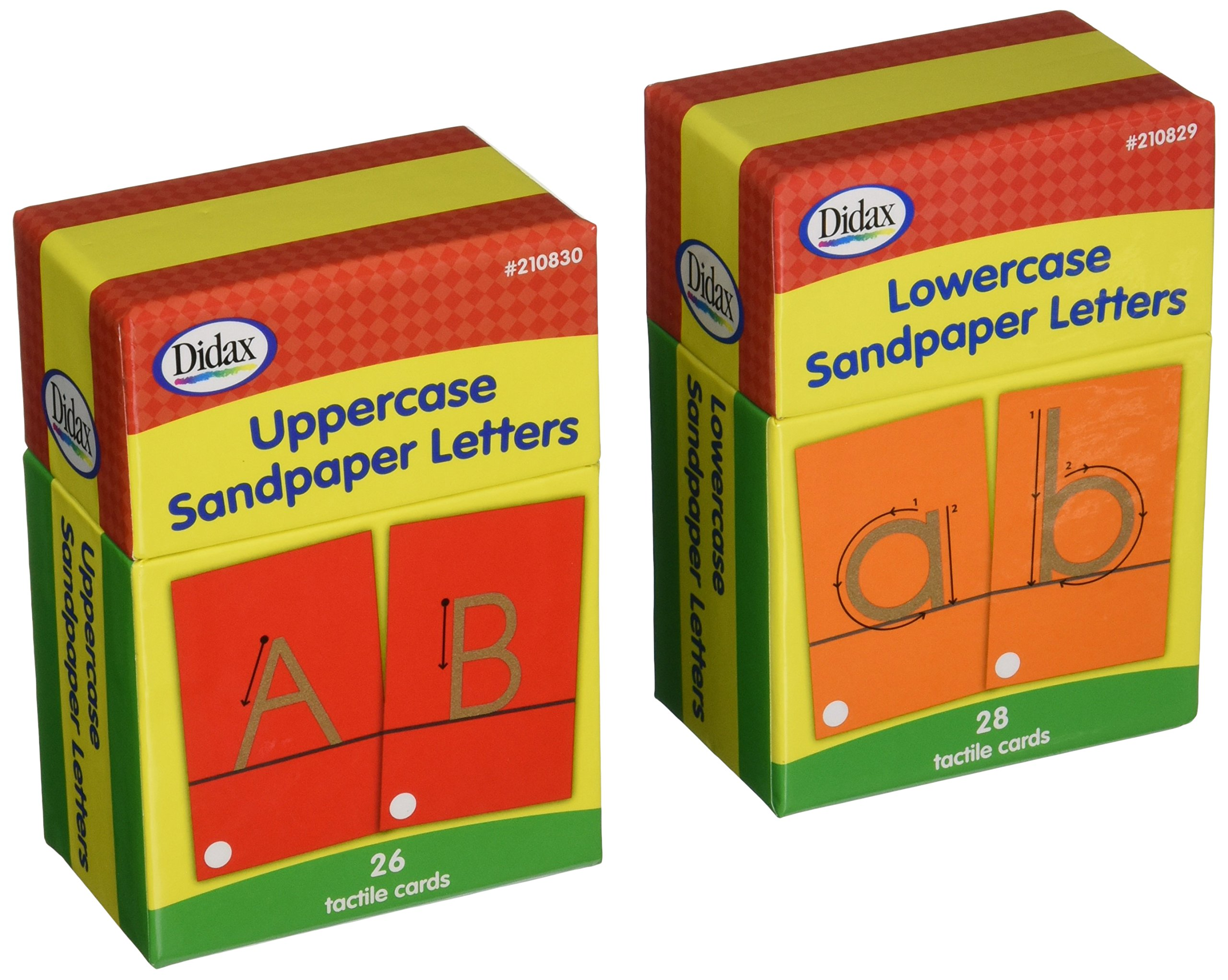 Didax Educational Resources Sandpapers Letters Boxed Set by Didax