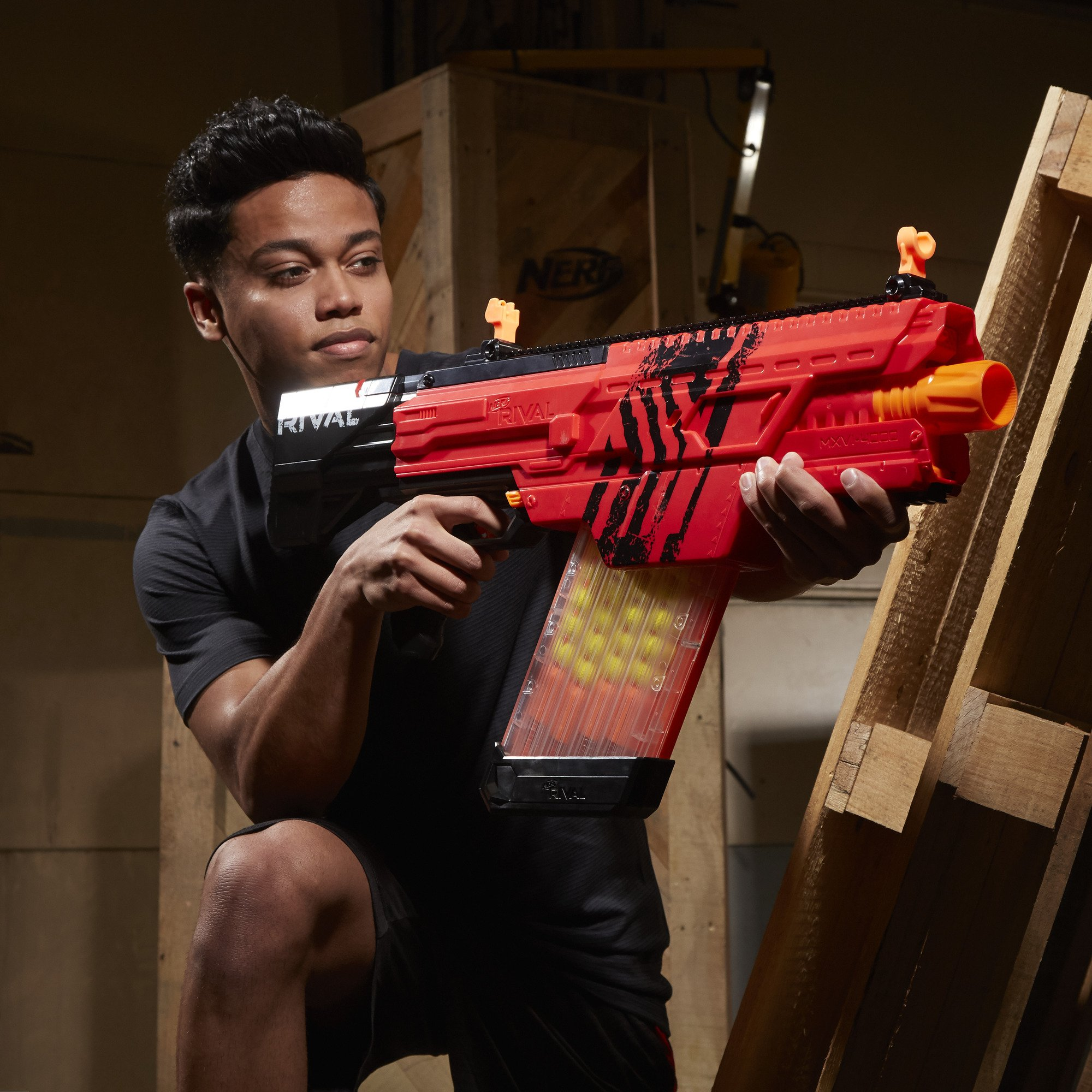 Nerf Rival Khaos MXVI-4000 Blaster (Red) by NERF (Image #11)