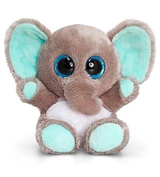 Keel Toys, Elefante de Peluche Animotsu de 15 cm, SF0452
