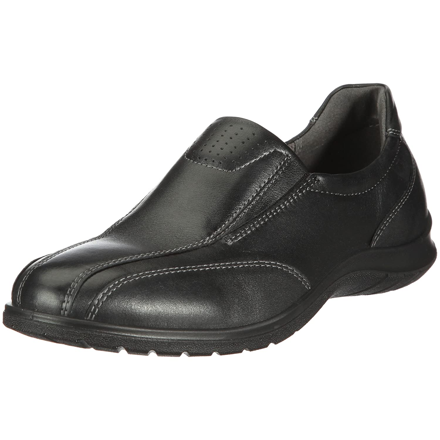 Ecco Women's Sky Slip on Black Leather Shoes