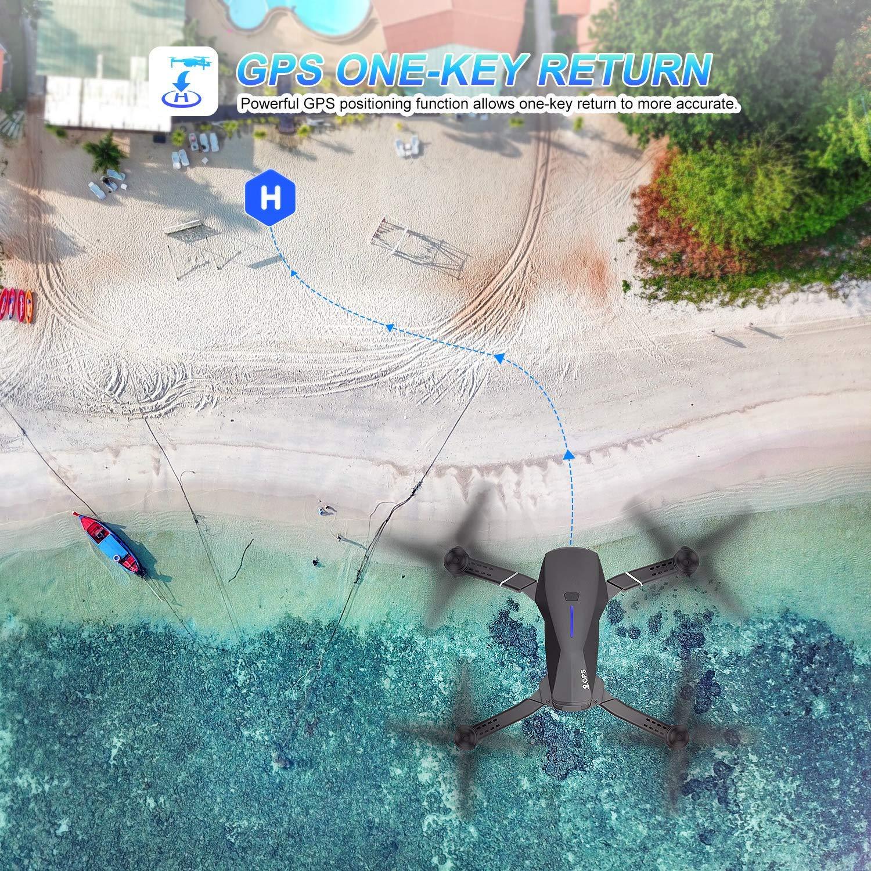 2Akku/&1Case-Versionen EACHINE E520S GPS Drohne mit 4k HD Kamera,5G WiFi FPV Live /Übertragung,250M Reichweite,120/°Weitwinkel,Follow-Me,App-Steuerung,16 Minuten Flugzeit
