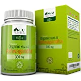 Organic Ashwagandha KSM66 300mg Vegan Capsules | 90 Ashwanghanda Capsules - 3 Month's Supply | Certified Organic Ashwagandha KSM-66 by the Soil Association | Ayurvedic Withania Somnifera | Made in the UK by Nu U Nutrition