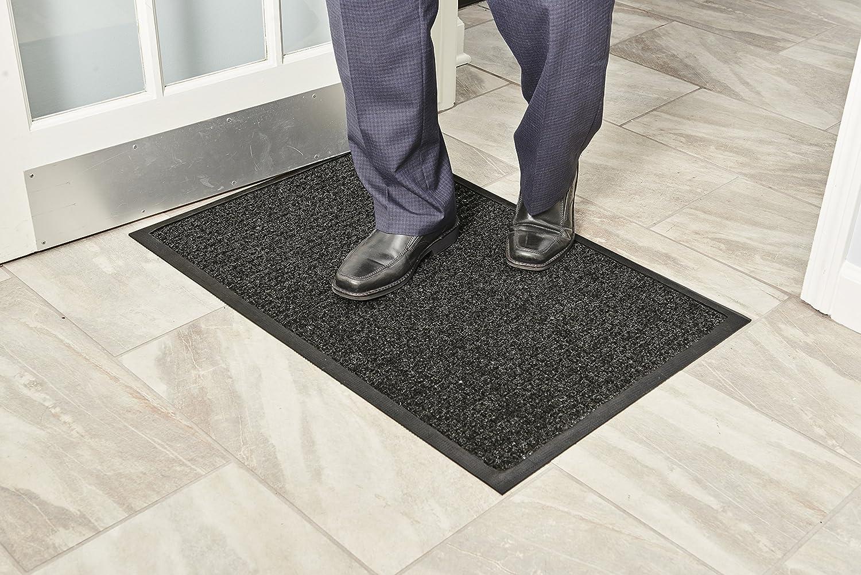 9d34b461cc65 Rubber/Nylon 3x5 Blue 3'x5' Millennium Mat Company WG030502 Guardian  WaterGuard Indoor/Outdoor Wiper Scraper Floor Mat