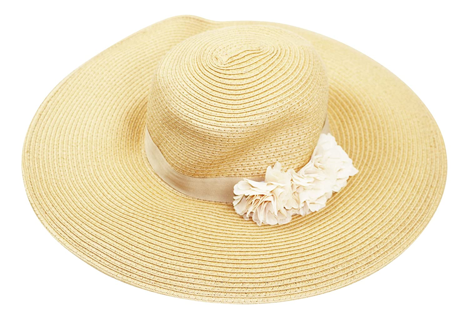6b0dc30e605 August Hat CO Fantasy Floral Adjustable Floppy Sun Hat (Natural