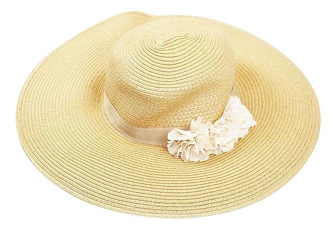 807f9ab0091 August Hat CO Fantasy Floral Adjustable Floppy Sun Hat (Natural