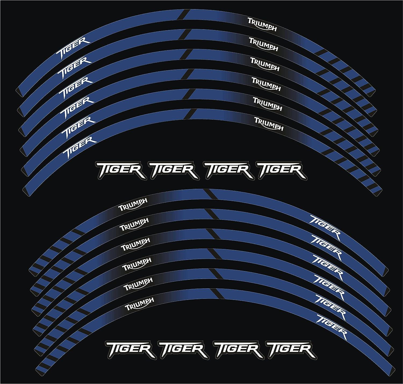 0715 Stickers Stickers Moto Jante Roue Triumph Tiger Sport ABS Kit 2 compl/ète 4/roues c/ôt/és Cod