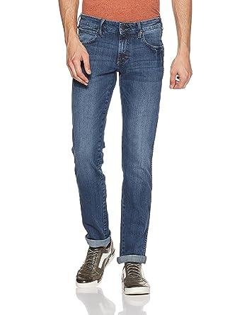 dc094200 Wrangler Men's (Skanders) Slim Fit Jeans (8907222613020_W21604W22990_30W X  33L_JSW-Dark Stone)