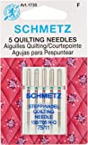 Euro-Notions 73078 Quilt Machine Needles-Size 11/75 5/Pkg
