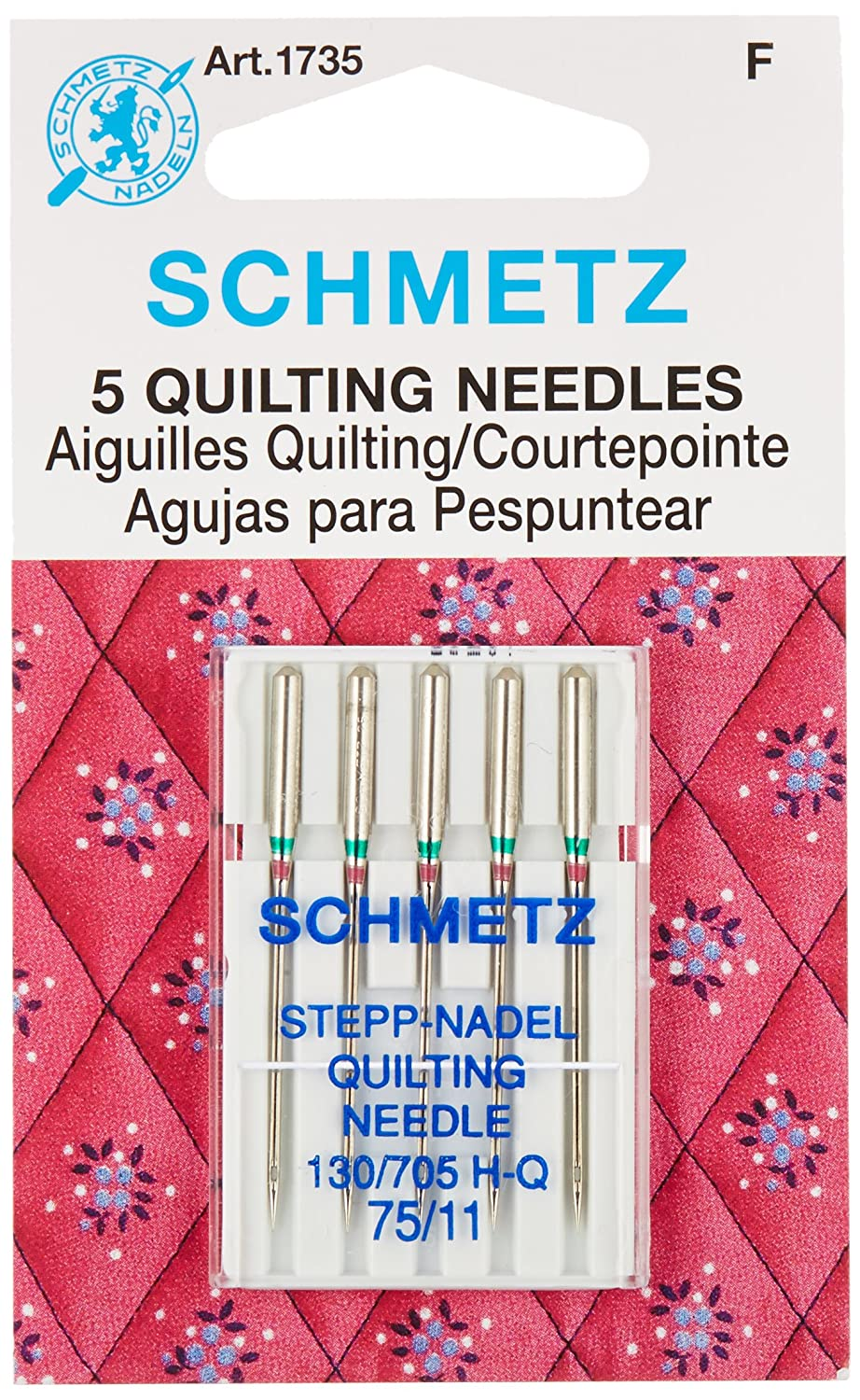 Euro-Notions 73078 Quilt Machine Needles-Size 11/75 5/Pkg SCHMETZ