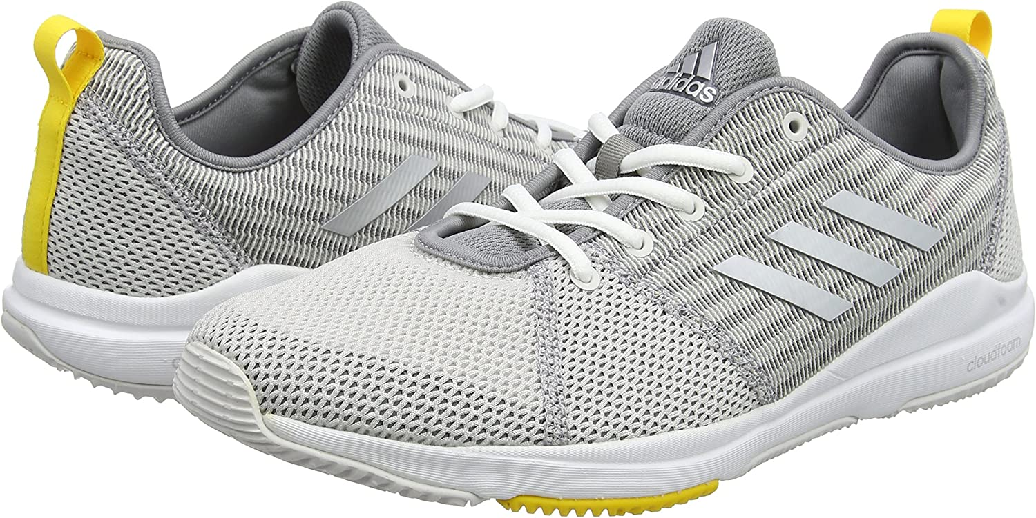 adidas Arianna Cloudfoam, Zapatillas de Gimnasia para Mujer, Multicolor (Grey One/Silver Met/EQT Yellow), 36 EU: Amazon.es: Zapatos y complementos