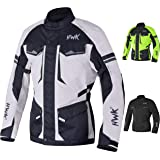 Adventure/Touring Motorcycle Jacket For Men Textile Motorbike CE Armored Waterproof Jackets ADV 4-Season (Light Grey