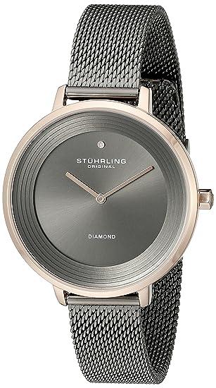 Stuhrling Original Symphony - Reloj de cuarzo, para mujer, con corea de acero inoxidable