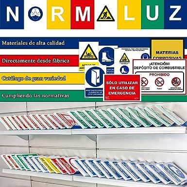 Normaluz RD31076 - Señal ¡Atención! Salida De Vehículos PVC Glasspack 0,7 mm 30x40 cm