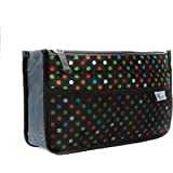 Periea Handbag Organiser - Chelsy - 28 Colours Available - Small, Medium Large (Medium, Black with Multi-coloured Polka…