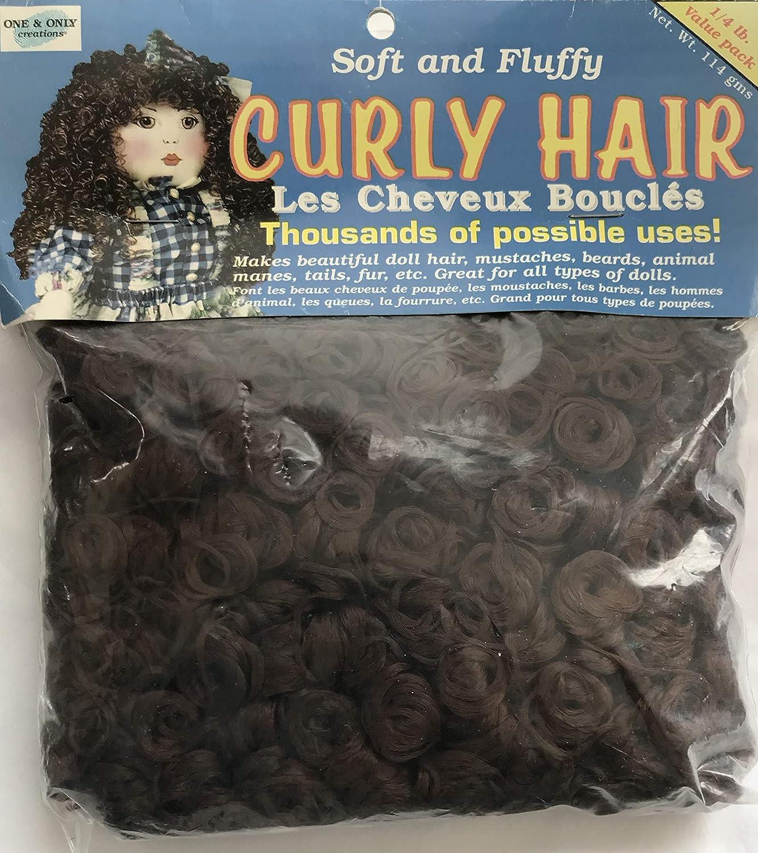 One & Only Craft 1 バリューパック 1/4ポンド カーリー人形の髪の毛 柔らかくふわふわした秋の茶色 (2001) B07KY2BHZX