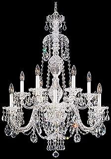 product image for Schonbek 2997-40H Swarovski Lighting Sterling Chandelier, Silver