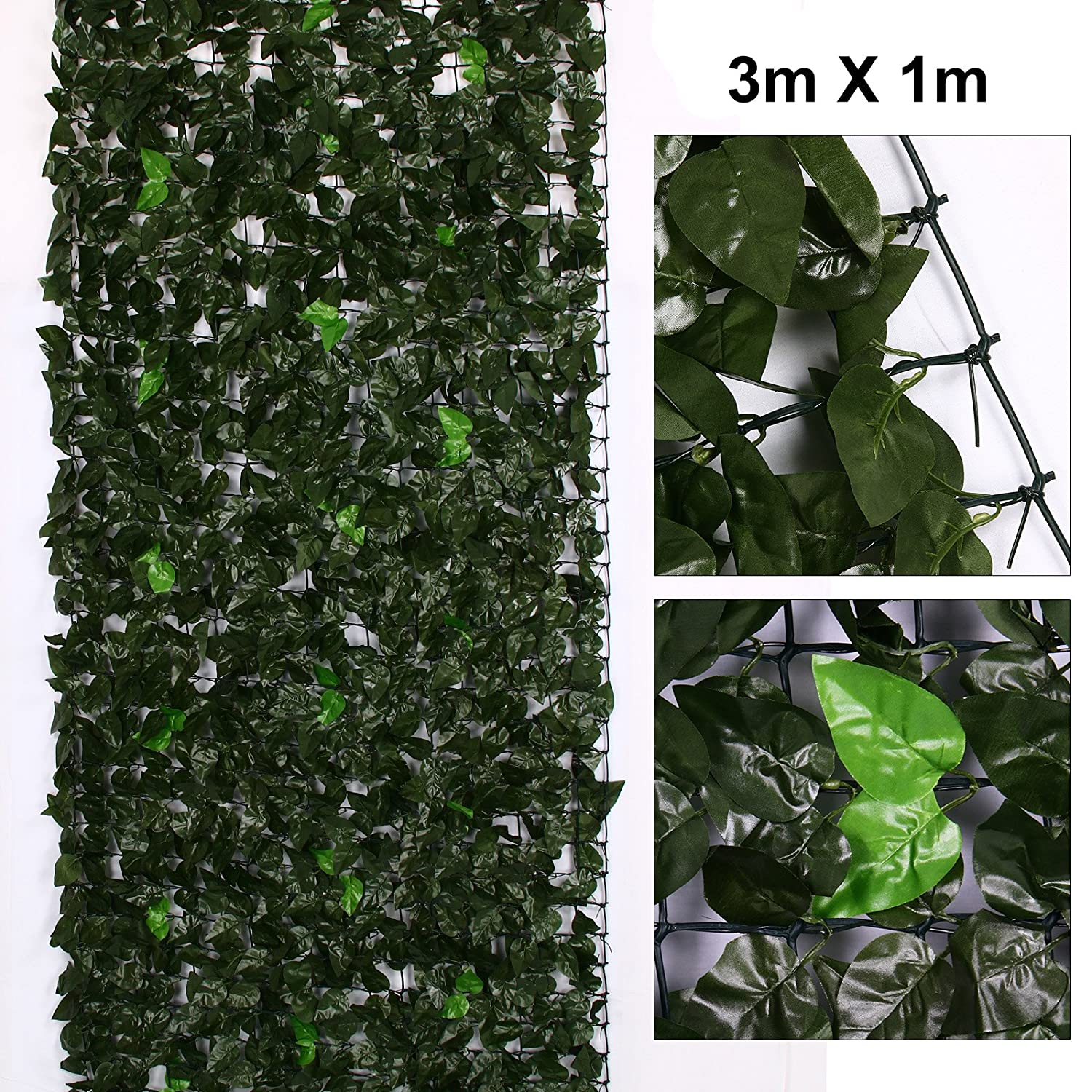 AllRight Ivy Screen Artificial Faux Leaf Hedge Panel On Roll Plastic Garden Fence 1m x 3m oem