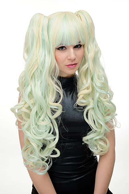 Wig Me Up – 3 piezas peluca Trenzas extraíble para mujer peluca Cosplay largo lockig Rubio
