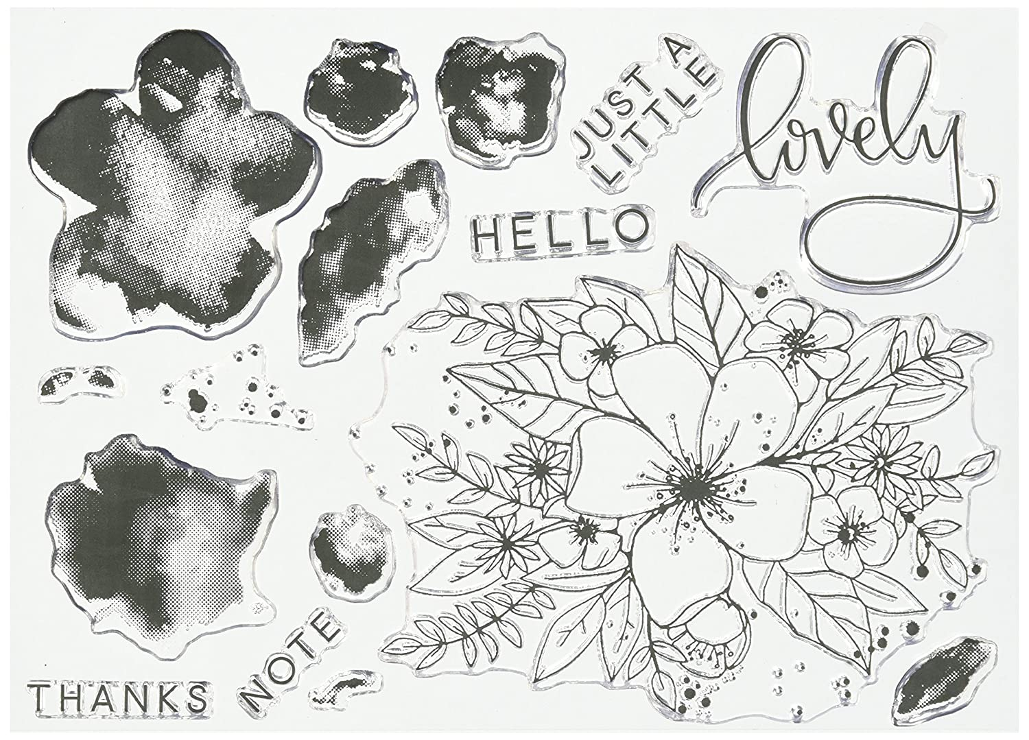Concord & 9th 10135 Clear Stamps 6X8-Hello Lovely