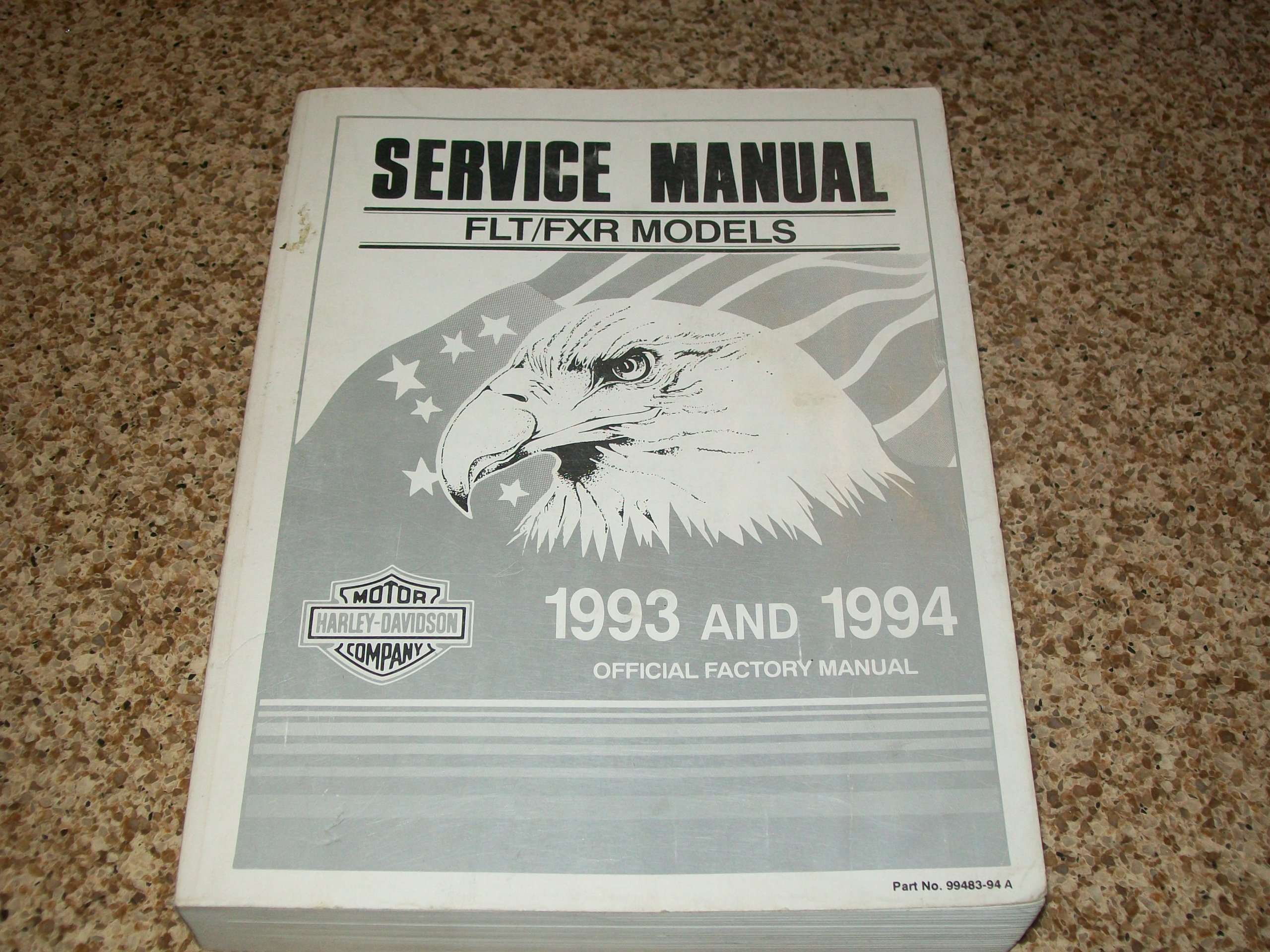 Harley Davidson Service Manual. FLT/FXR Models. 1993 and 1994. (Official  Factory Manual: Amazon.com: Books